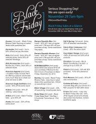 Access (1st Level) - Black Friday Blowout Sale ... - Rideau Centre