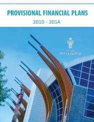 PROVISIONAL FINANCIAL PLANS - City of Prince George
