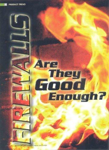 Firewalls : Are They Good Enough? - Cyberoam