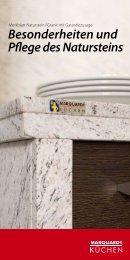 Besonderheiten und Pflege des Natursteins - Marquardt Küchen