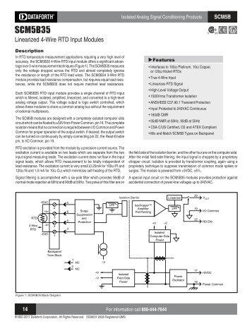 dsca30 02 analog voltage input signal conditioner dataforth scm5b35 linearized 4 wire rtd input modules dataforth