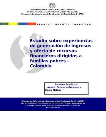 Estudio sobre experiencias de generación de ingresos y oferta de ...