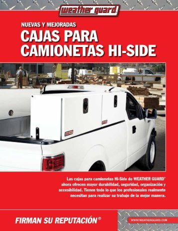 caJas Para caMionetas Hi-siDe - Weather Guard