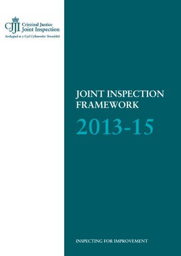 Joint inspection framework 2013-15 - HMCPSI