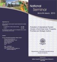 2-Days National Seminar on Promotion of International Tourism ...