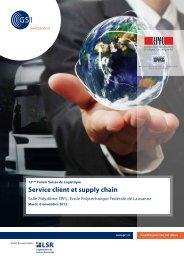 Service client et supply chain - Memento EPFL
