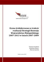 Ocena śródokresowa w trakcie realizacji Strategii Rozwoju ...