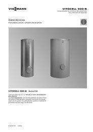 Datos técnicos Vitocell 300-B EVB858 KB - Viessmann
