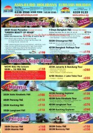Asia Euro Holidays Brochure - Best Vacation Deals Today