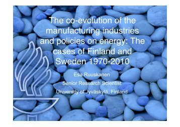 The co-evolution of the manufacturing industries and ... - AAEE
