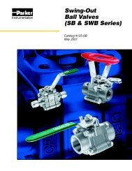 Swing-Out Ball Valves - Technical Controls