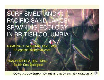 coastal conservation institute of british columbia - Verney ...