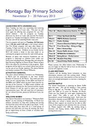 Newsletter No 3 – 20 February 2013 PDF - Montagu Bay Primary ...