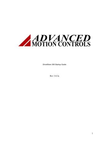digiflex digital servo drive startup guide advanced motion Linear Motor connecting to the drive advanced motion controls