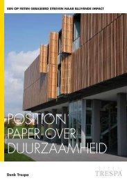 POSITION PAPER OVER DUURZAAMHEID - Trespa