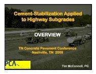 Cement Stabilization Applied Stabilization Applied Cement ...