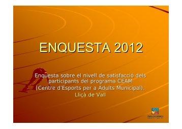 ENQUESTA 2012