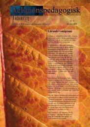 Nr 19 Hösten 2009 - Religionspedagogiskt idéforum