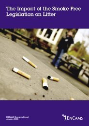 The Impact of the Smoke Free Legislation on Litter - Keep Britain Tidy