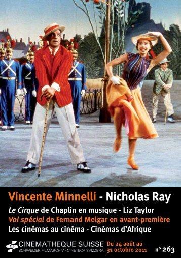 Vincente Minnelli - Nicholas Ray - Cinémathèque suisse