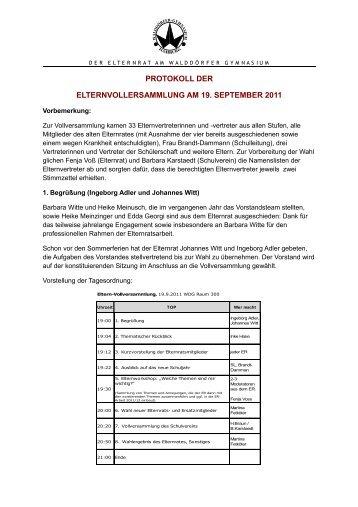 2011-09-19 Vollversammlung Protokoll.pdf - Walddörfer Gymnasium