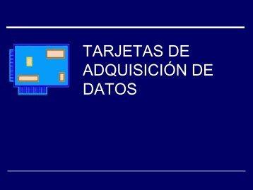 TARJETAS DE ADQUISICIÓN DE DATOS