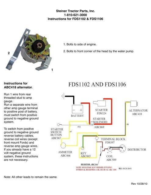 instructions - steiner tractor parts on farmall m engine diagram,  farmall b wiring diagram, ground