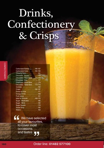 Drinks, Confectionery & Crisps - Turner Price