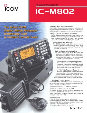 IC-M802 Leaflet - Icom UK