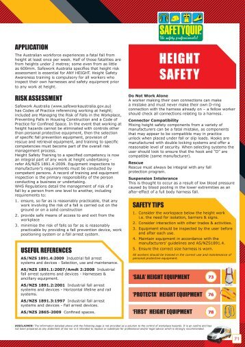 HEIGHT SAFETY - SafetyQuip