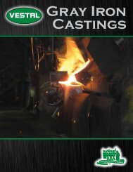Gray Iron Castings - Vestal Manufacturing