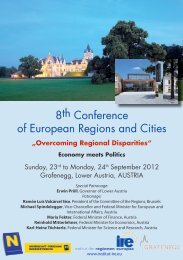 8th Conference of European Regions and Cities - Institut IRE
