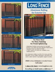 Aluminum Railing for Exterior Use - Long® Fence