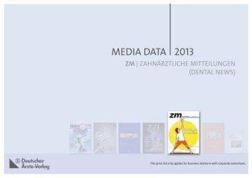 2013 MEDIA DATA - Zahnheilkunde.de