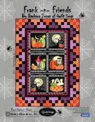 Download our Frank-n-Friends FREE Project - Quilt Soup
