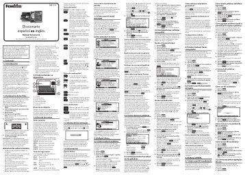 Diccionario español inglés - Franklin Electronic Publishers