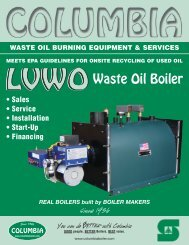 meets epa guidelines for onsite recycling of used - Columbia Heating