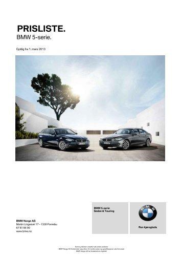 Last ned. Gyldig prisliste for BMW 5-serie Sedan.