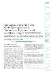 Innovative Sanierung von Gründerzeitgebäuden - e7 Energie Markt ...