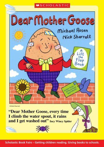 """""""Dear Mother Goose, every time I climb the water spout ... - Scholastic"""