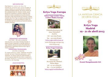 Kriya Yoga Madrid 19 - 21 de abril 2013