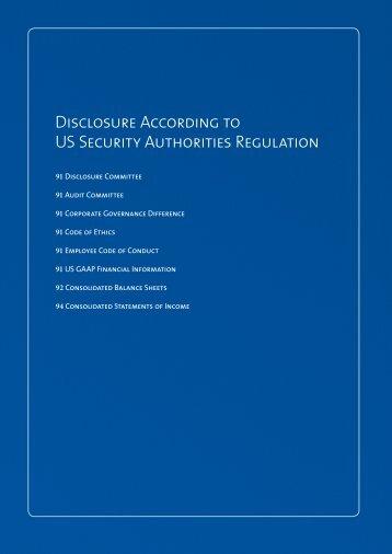 Disclosure According to US Security Authorities Regulation - UMC