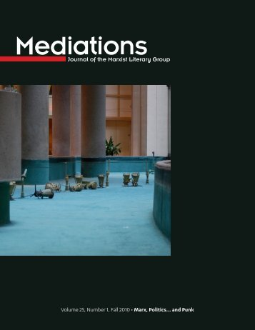 Volume 25, Number 1, Fall 2010 • Marx, Politics… and ... - Mediations