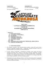 2011.GADA LATVIJAS AUTOKROSA ČEMPIONĀTA NOLIKUMS ...