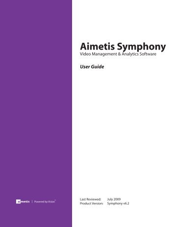 Aimetis Symphony User Guide