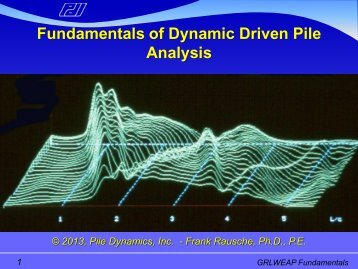 Fundamentals of Dynamic Driven Pile Analysis