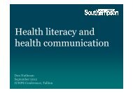 Health literacy and health communication
