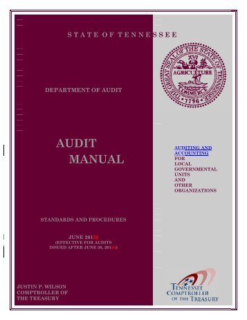 On 06/30/2013 the Audit Manual was updated. For a markup copy ...