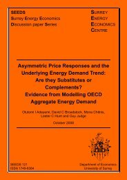 Asymmetric Price Responses and the Underlying Energy Demand ...