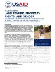 LAND TENURE, PROPERTY RIGHTS, AND GENDER